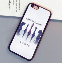 Game of Throne Play Or Die Printed Soft Rubber Skin Mobile Phone Case Bag For iPhone 6 6S Plus 7 7 Plus 5 5S 5C SE 4S Back Cover