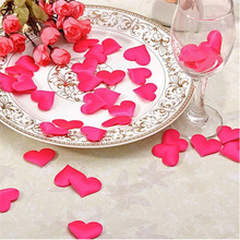 cheap! 50pcs Heart fabic 2x1.5cm / 3.5x3.5cm Wedding Party Confetti Table Decoration baby shower birthday party decor Supplies