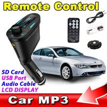 FM Transmitter Car Kit MP3 Player Wireless Modulator LCD USB SD MMC Remote Control Car MP3 FM Pen Drive Red Light LCD