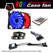 ALSEYE Remote control 120mm LED RGB fan with RGB strips sets (10 sets) wholesale for agents (More quantity, more cheaper)(China)