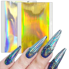 1pcs Laser Design Gold/Silver Ultra Sticker Nail Art Striping Line Sticker DIY Adhesive Foils Manicure Polish Fashion Tips CH317
