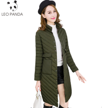 Spring Autumn Women's Lightweight Thin White Duck Down Jacket Slim Double Pocket Fashion Female Long Down Coats Outerwear TTT39