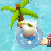 Hot Summer Pool Float 6 PCS /Set  Inflatable Palm Tree Beer Drink Cup Holder Float Mini Drink Pool Toy Outdoor Swimming Beach
