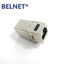 BELNET 2pcs Cat6 FTP shield RJ45 inline Coupler connector 8P8C Female to Female Network Ethernet Cable Adapter Extender Coupler(China)