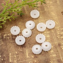 10pcs/set Plastic Gear For DIY Handmade Model Accessories Aperture 2mm 0.5 Modulus 15 Teeth