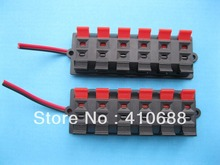 10 pcs Speaker Terminal Board Connector Spring Loaded 12-Way With Soldered Wire