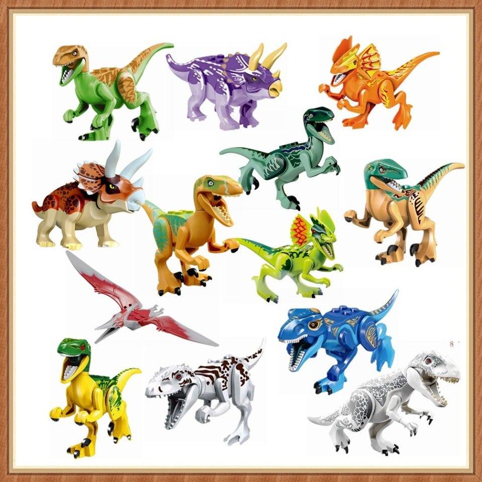 Mailackers Jurassic World 2 Triceratops Tyrannosaurus Rex Pterosauria Hybrid Velociraptor Jurassic Dinosaurs Park 3 2 Blocks Toy