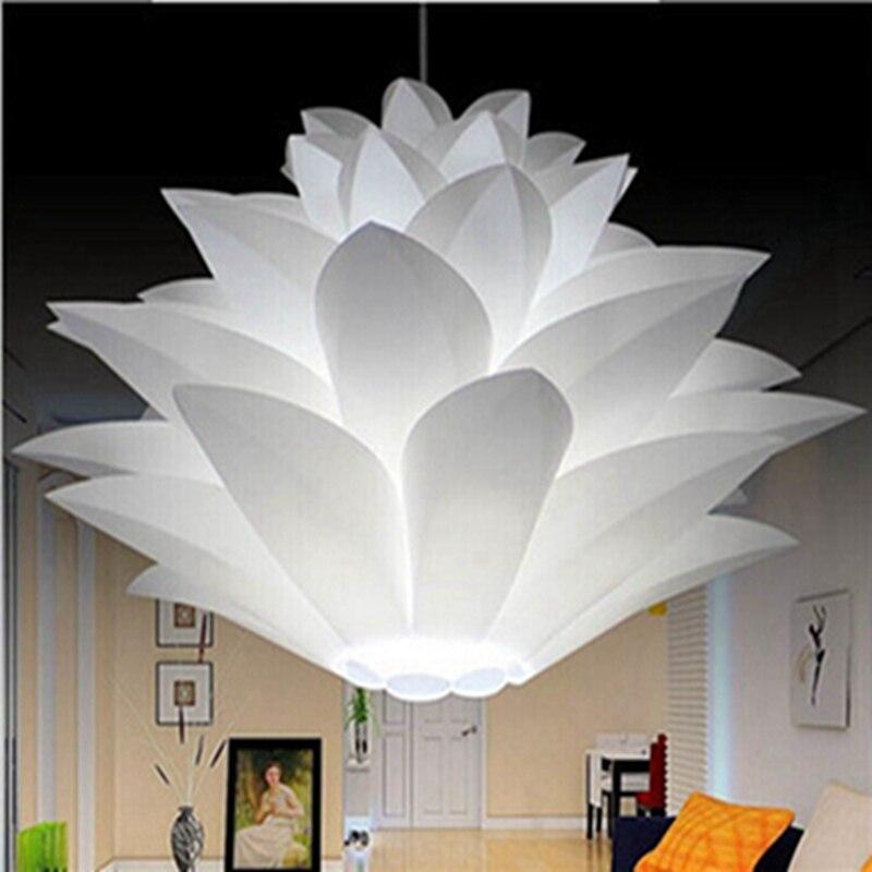 Lowest Price DIY iq Puzzle Lamp Modern Pinecone Pendant Light Creative Lily Lotus Novel Led E27 35/45/55cm White High Quality<br><br>Aliexpress