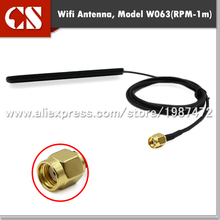 Flat 2.4 GHz Patch Antennas,hot spots wifi antenna with RP-SMA male(inner hole)1m cable