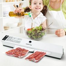 Kitchen Food Vacuum Sealer Packaging Machine Automatic Vacuum Sealing Fresh Free Film Saver 15pcs Bags Sealer Vacuum Packer(China)