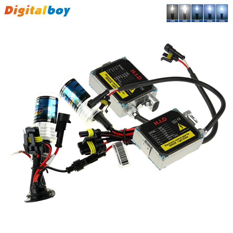 1 Set 12V DC 55W Xenon HID Ballast Kit Car Headlight Bulbs H1 Xenon Bulb 6000K 4300K 5000K 8000K 10000K 12000K Auto Light<br>