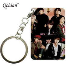 BTS Bangtan Boys Keychain  Pop Misic Group for Young Keyholder Print Key Chains Customer customization