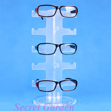 Wholesale 2 High Quality Frosted Sunglass Display Stand Holder Rack For 5 Pairs(China)
