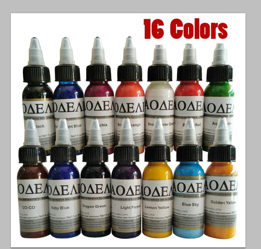Tattoo Inks 14 Colors 30ml/bottle Tatto Pigment Inks Set For Body Tattoo Art Kit  Nani<br>