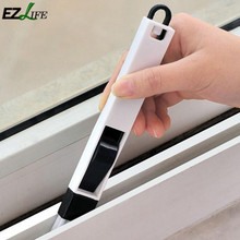 EZLIFE Random Color Computer Keyboard Window Cleaning Brush Groove Window Corners Corner Dust Brush Man Track Cleaner Window