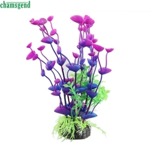 CHAMSGEND Voberry Purple/Green Artificial Water Plant Decoration for Aquarium Fish Happy Gifts High Quality Home Decor(China)