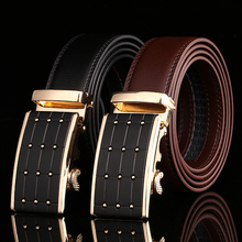 Hot Fashion Luxury Design Men Belt Business Belts Automatic Buckle Leather Belt Men Accessories Casual Waist Strap Belt for Male(China)