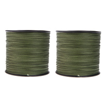 2 x 500M 30lb Dyneema braided fishing line ArmyGreen(China)