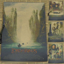 The Lord Of The Rings Retro Movie Poster Brown Paper Draw Core Hanging Picture Comic Painting Vintage Kraft Paper Art Decorative