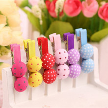 6 Pcs/ lot Beautiful Ribbon Colored Double Layer Bow Hairpins Kids Girls' adorable Hair Clips accessories(China)