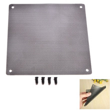 14cm x 14cm Cuttable Computer Cooling Fan Filter 140mm PC Fan Case Dust Filter Strainer Dustproof Mesh with 4pcs Screw