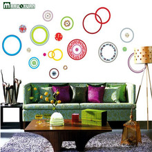 Maruoxuan Colorful Circles Dot Wall Stickers Diy Removable Pvc Childrens Room Living Room Bedroom Wall Decals Art Home Decor