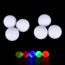 1Pc Light-up Color Flashing Glowing LED Electronic Golf Ball For Night Golfing Gift Drop shipping hot sale(China)