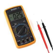 Handheld DT9205A Electric Multimeter Capacitance hFE Ammeter Voltmeter Resistance Tester AD DC With Digital LCD Display(China)