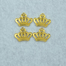 20pcs  Gold color crown Charms Necklace Pendant Bracelet Jewelry Making Handmade Crafts diy Supplies 23*18mm 1509