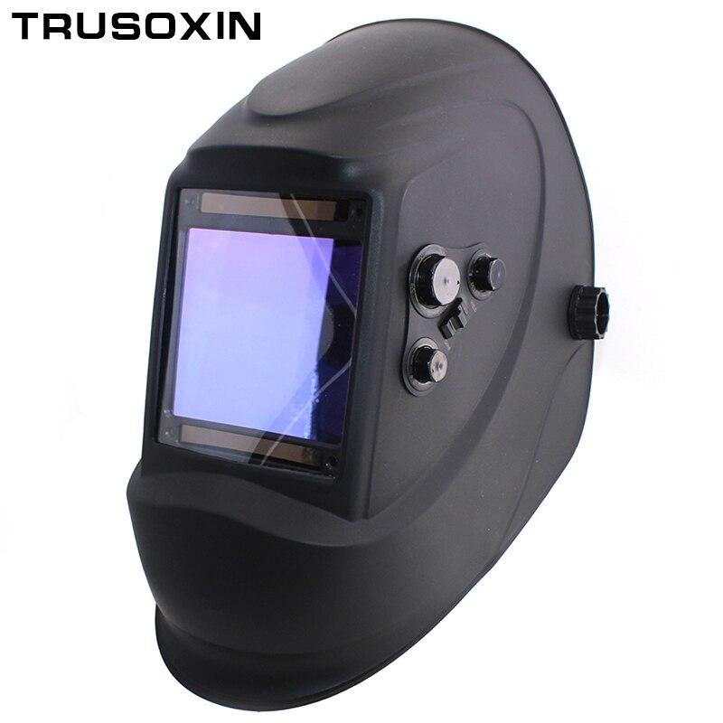 Out control Big view eara 4 arc sensor DIN5-DIN13 Solar auto darkening TIG MIG MMA welding mask/helmet/welder cap/lens/face mask<br>