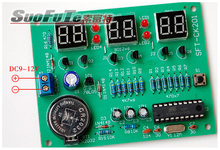 SCM 6 digit display clock AT89C2051 six bit digital clock KIT Parts(China)