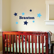 Custom Name Wall Decal Baby Nursery Name Wall Sticker Kids Name Wall Sticker Children Room Cut Vinyl Sticker C43