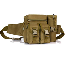 Outdoor Tactical Waist Pack Special Duty Weapons Tactics Sport Ride Motorcycle Waterproof Drop Utility Waist Pouch Khaki