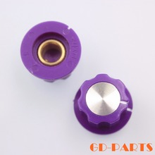 "10PCS 20x12mm 1/4"" Brass Shaft Hole Purple ABS Plastic Set Pointer Knob for Guitar AMP Effect Pedal Stomp Box Overdrive DJ mixer"