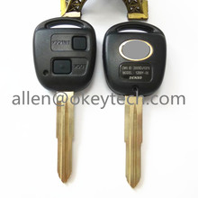 Portable Toyota 2 Button Car Remote Key Shell Case Replacement For Corolla / RAV4 / Prado / Yaris / Camry + Button Pad
