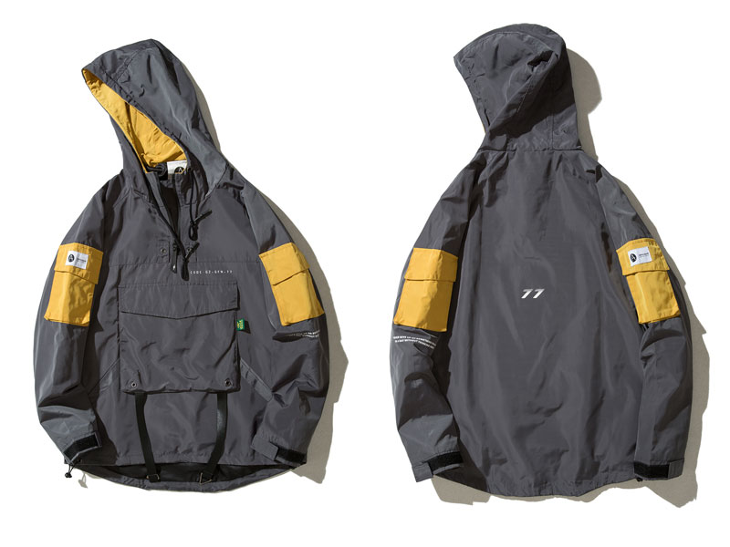 Front Pocket Pullover Jackets 1