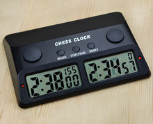 Digital Chess Clock Electronic Board Game Player Set Portable Handheld Man Piece Master Count Down Timer