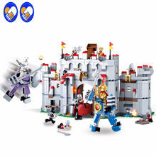 A Toy A Dream SLUBAN 0620 Ninja Knight armor Medieval castle series Model 887pcs Bricks Set Building Blocks Toys for Children(China)