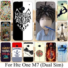 Soft TPU Silicone cases skin shell for HTC ONE M7 801E (Single) 802W 802D 802T (Dual Sim) cool customized Phone Housing shell