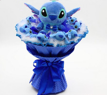 Holiday gift Cartoon Stitch Bouquet For Graduation/Birthday / Valentine's Day / Wedding / Christmas day for girls Women(China)