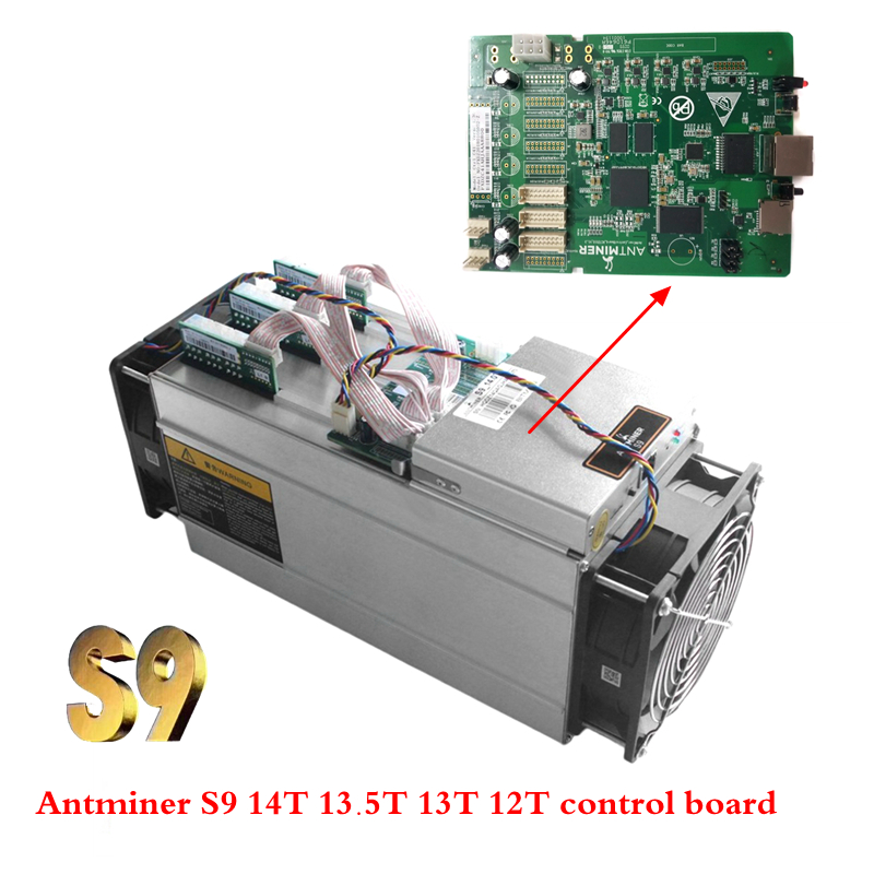 Antminer S9 control board bitcoin miner repair parts hash Data circuit board Antminer S9 14T 13.5T 13T 12T New free