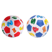 13cm Baby Kid Early Education Football Toys Small Alphabet Number Learning Ringing Ball Mini Child Toys Random Color(China)
