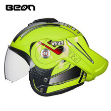 2018 New BEON T702 Flip Up Motorcycle Helmets Full face Motocross motorbike Racing helmets four seasons safety helmet(China)