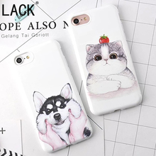 Fashion Soft TPU Phone Cases Cartoon Husky Dog Fundas For iphone 6 Lovely animal Cat For Apple iphone 6S 7 7Plus Back Cover Capa