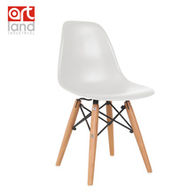 children's chair,Plastic side chair with beech wood legs Dining chair leisure chair cheap free shipping door to door