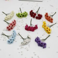 10 pcs / lot Mulberry Paper Daisy Wedding Flower Bouquet of Flowers / Stem Yarn / Scrapbooking Sunflower Flower Simulation Flowe