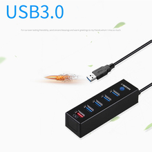 NOYOKERE Nice 5 Ports High Speed USB 3.0 USB Data Charger Hub Adapter 4 Ports Data Hub 1 fast Charging Port Individual Switches(China)