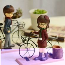 Couple Bike Figurines ZAKKA Decoration Valentine's Day Holiday Gifts Home Decoration Furnishings Living Room Crafts(China)