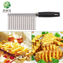 DUOLVQI Vegetable Cutter Stainless Steel Potato Wavy Edged Cutter Knife Gadget Vegetable Fruit Cutter Peeler Cooking Tools(China)