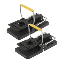 2pcs Black Reusable Mouse Mice Rat Trap Killer Control Trap-Easy Pest Catching Catcher PBT Pest Reject(China)